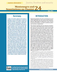 Montenegro and Negotiations on Chapter 24 - Justice, freedom and security