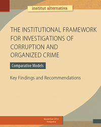 The institutional framework for investigations of corruption and organized crime – Comparative models