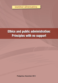 Ethics and public administration: Principles with no support