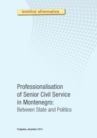 Professionalisation of Senior Civil Service in Montenegro: Between State and Politics