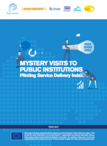 Mistery Visits to Public Institutions: Piloting Service Delivery Index