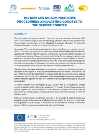 The new law on administrative procedures: long-lasting goodbye to the service counter