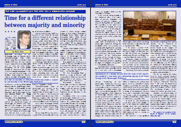Time for a different relationship between majority and minority - Stevo Muk