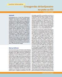 Crnogorsko državljanstvo na putu za EU