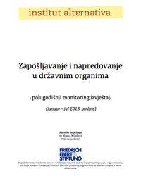 Zapošljavanje i napredovanje u državnim organima - Polugodišnji izvještaj