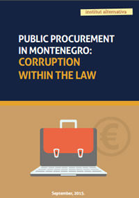 Public procurement in Montenegro: Corruption within the law