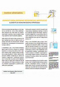 Javnost rada Državne revizorske institucije - Elementi za komunikacionu strategiju