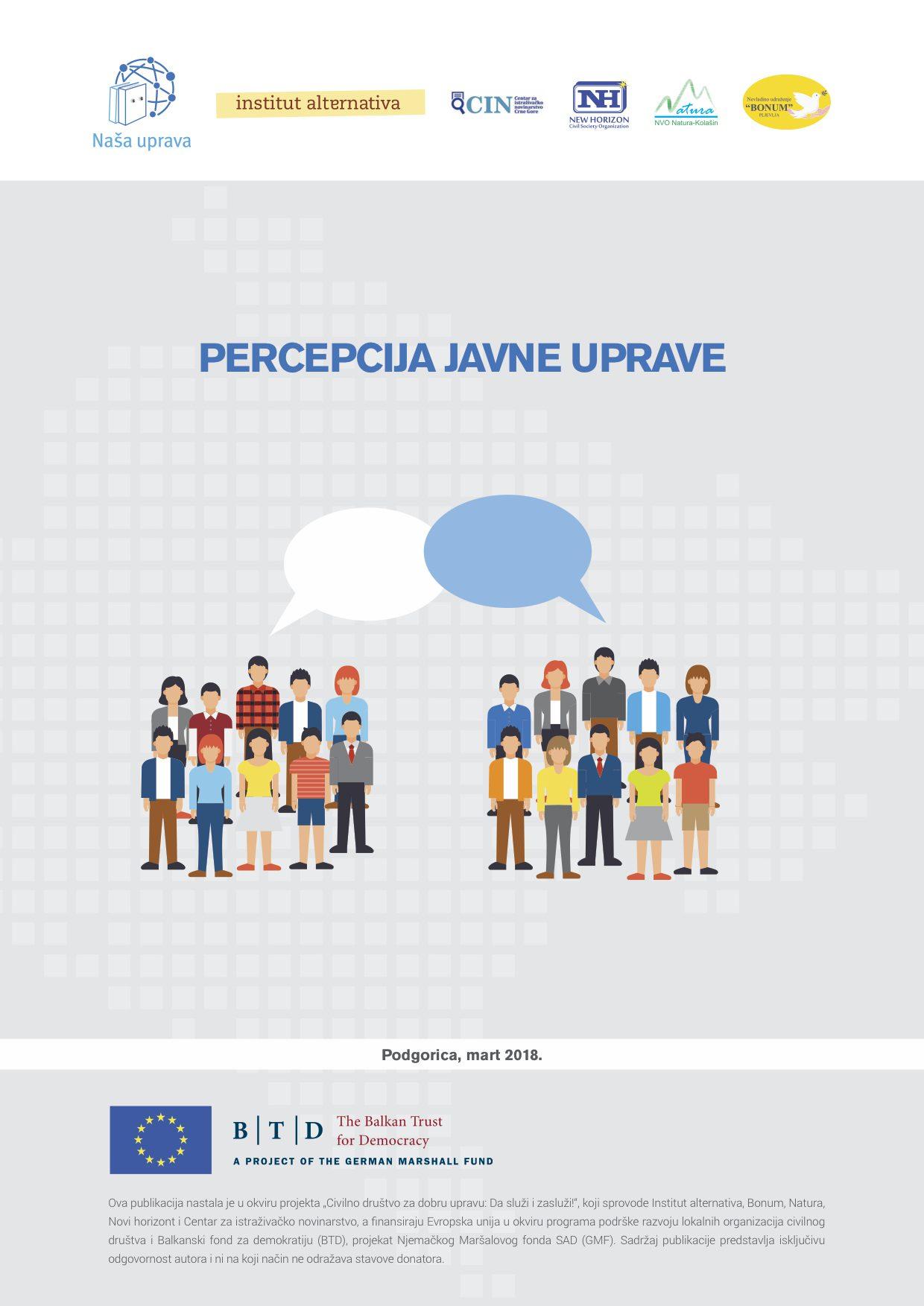 Percepcija javne uprave - istraživanje