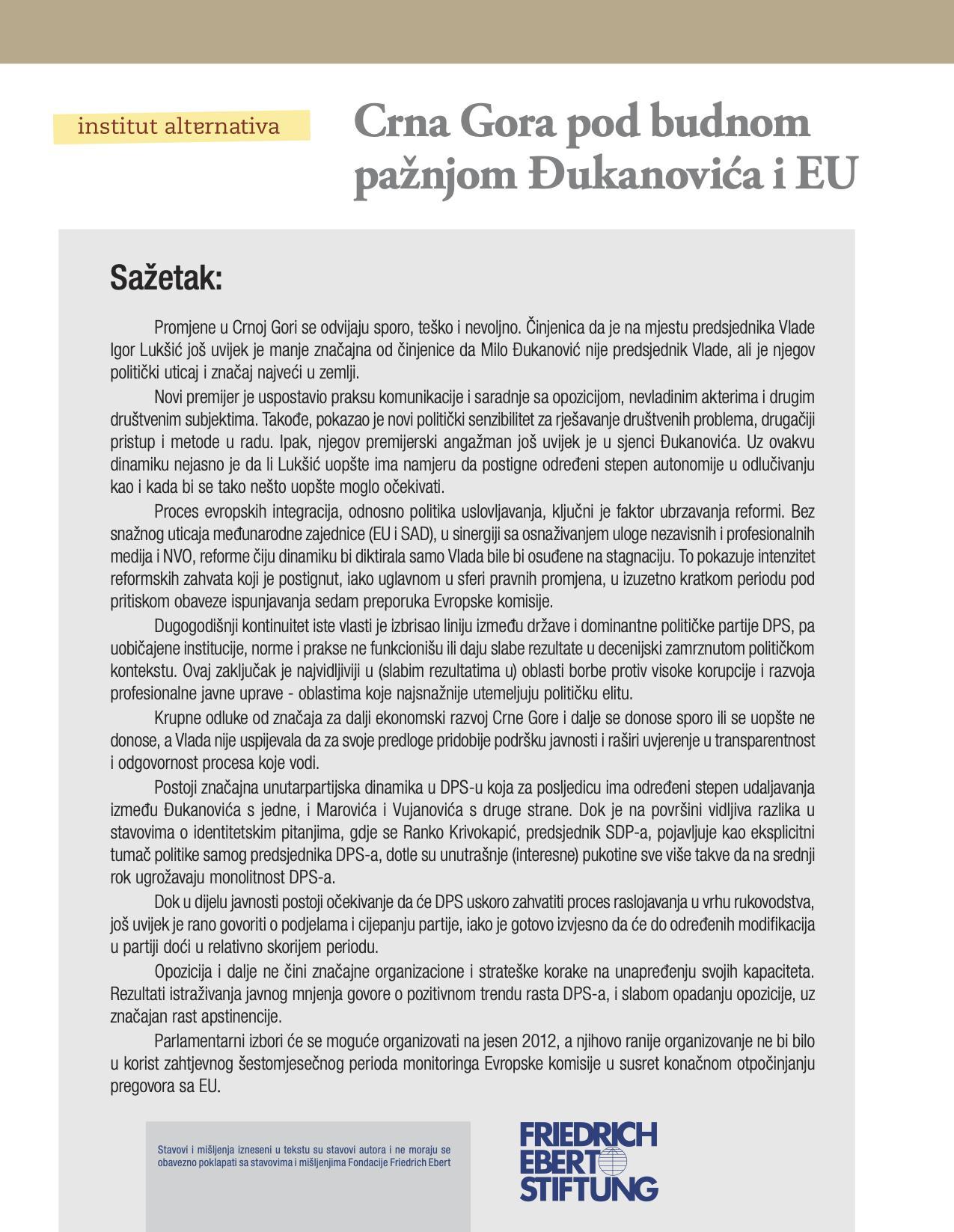 Crna Gora pod budnom pažnjom Đukanovića i EU