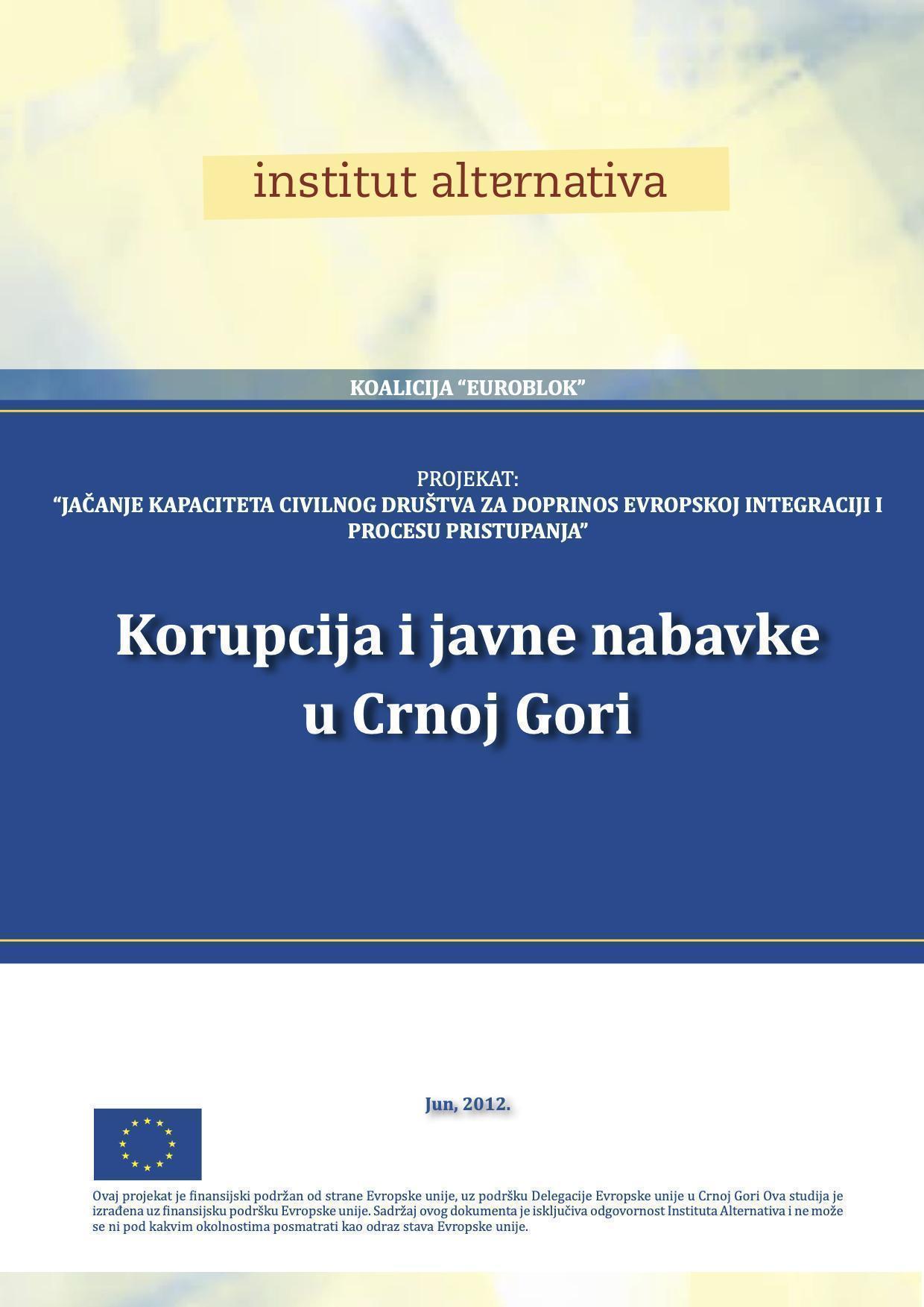 Korupcija i javne nabavke u Crnoj Gori