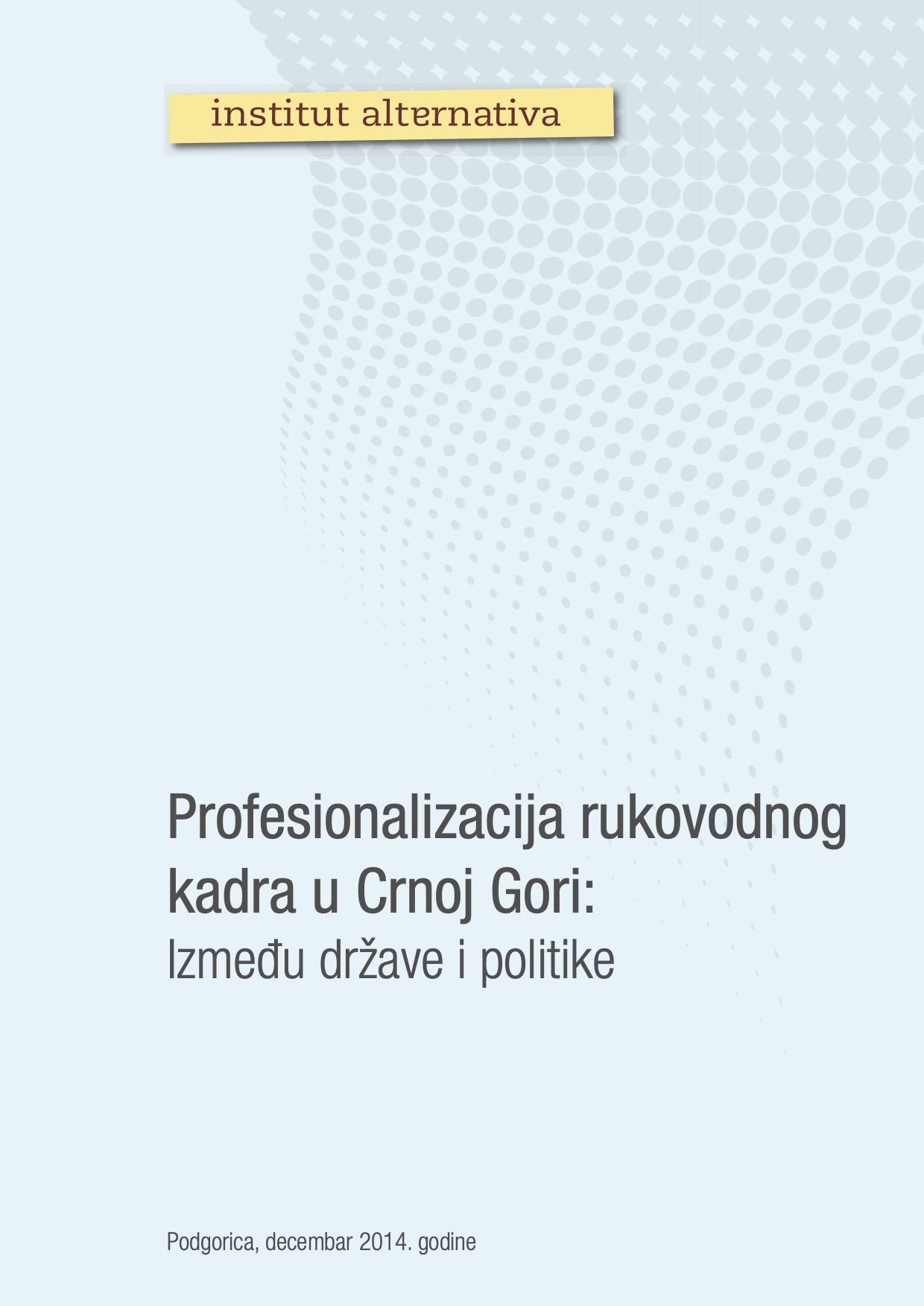 Profesionalizacija rukovodnog kadra u Crnoj Gori