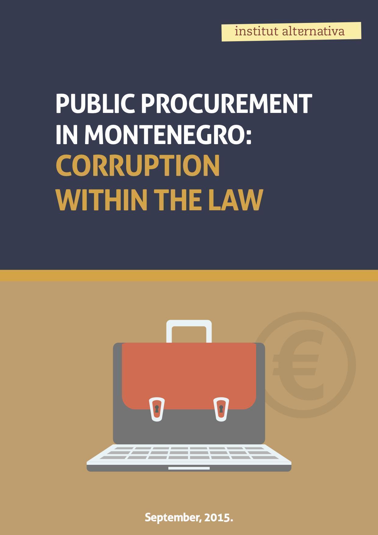 Public procurement in Montenegro: Corruption within the law