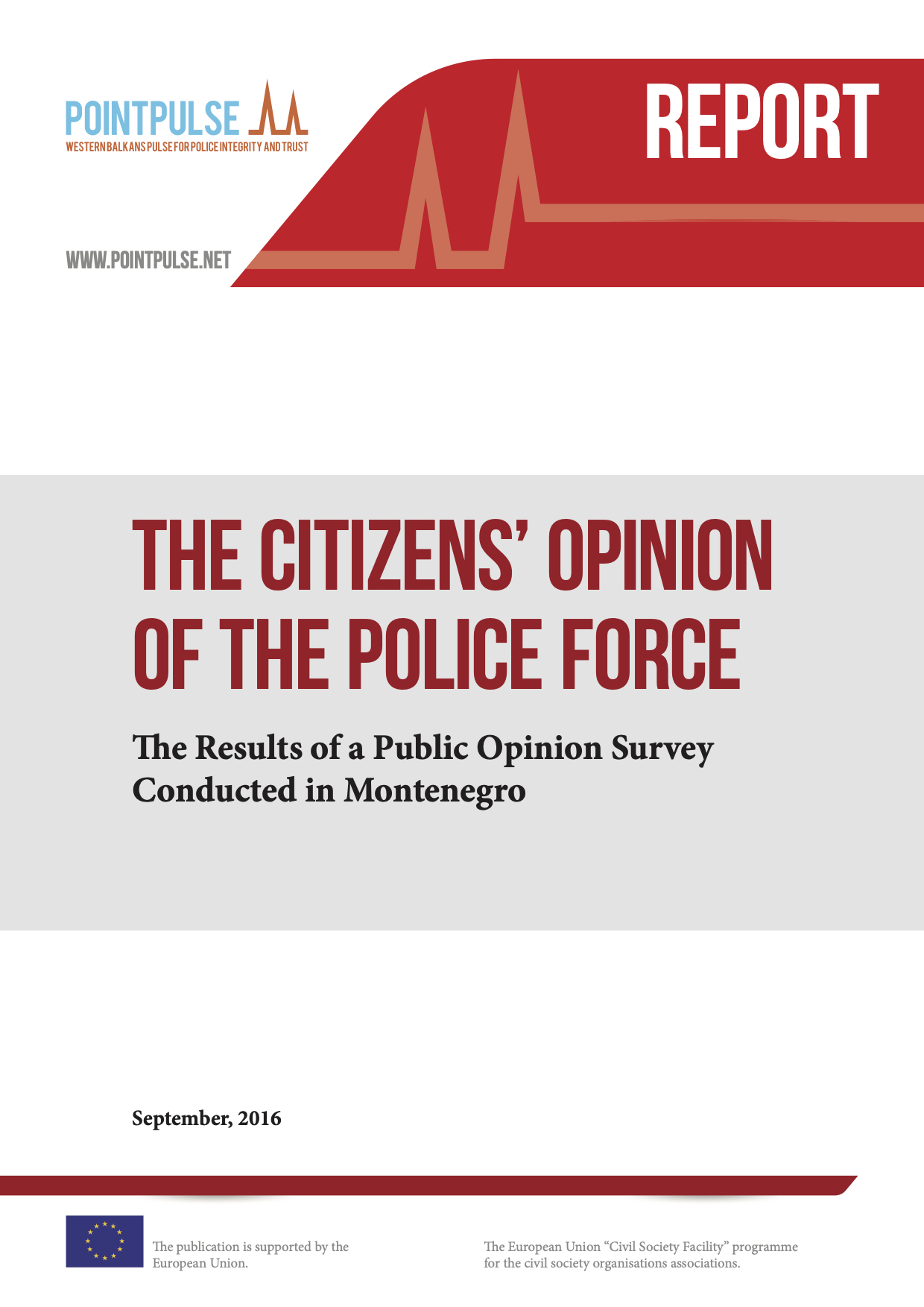 The citizens' opinion of the police force - Report